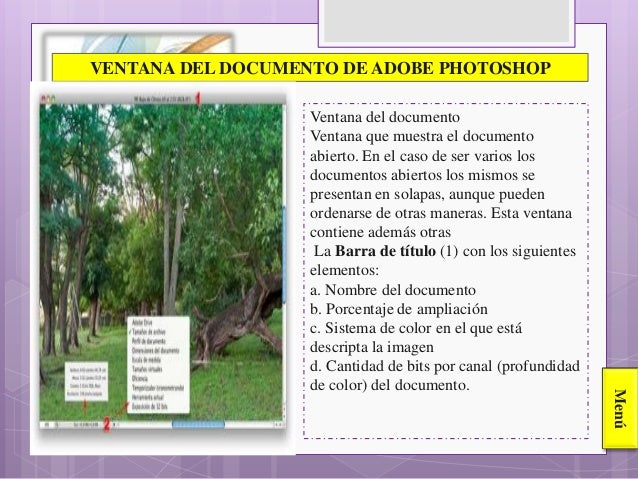 PARTES DE LA VENTANA DEL PHOTOSHOP CS6
