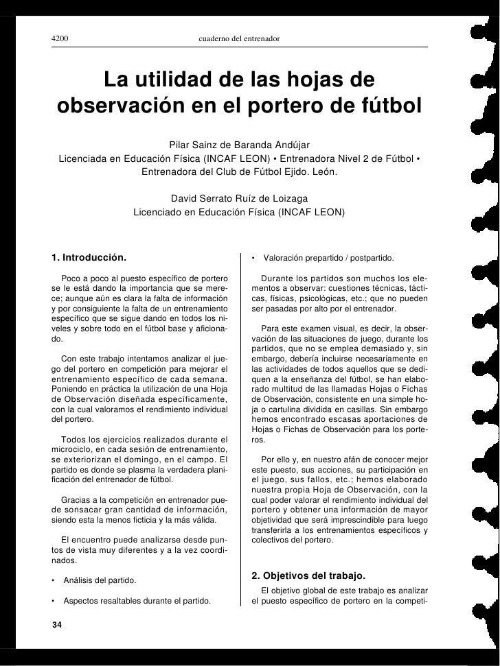 4200                                     cuaderno del entrenador             La utilidad de las hojas de     observación e...