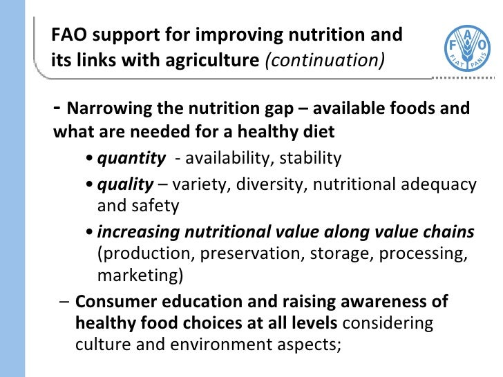 Improving Diets And Nutrition Food Based Approaches