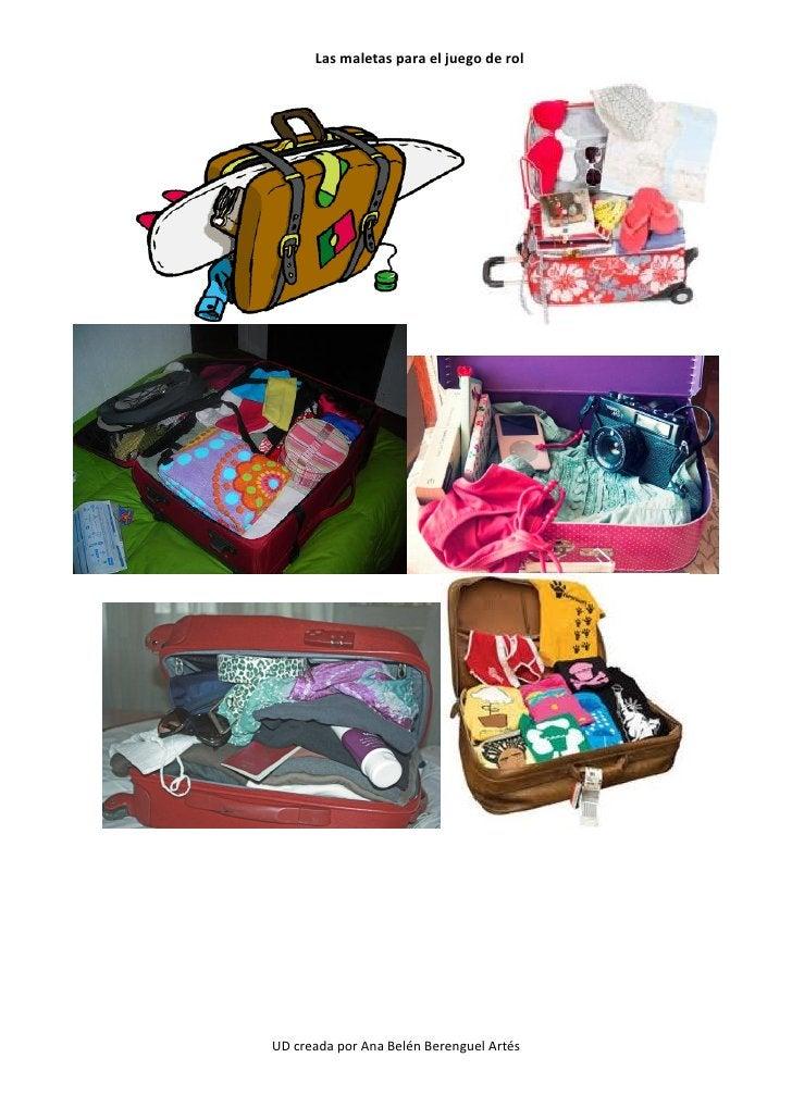 Las maletas para el juego de rolUD creada por Ana Belén Berenguel Artés