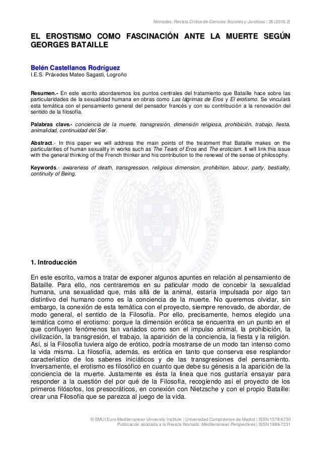 Nómadas. Revista Crítica de Ciencias Sociales y Jurídicas | 26 (2010.2) © EMUI Euro-Mediterranean University Institute | U...