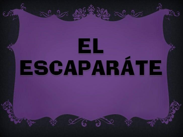 Hay varias maneras de colorar los artículos en el escaparate.-Según la posición de los objetos los escaparates pueden ser:...