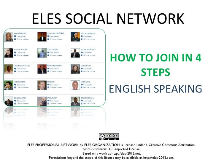 ELES SOCIAL NETWORK                                               HOW TO JOIN IN 4                                        ...