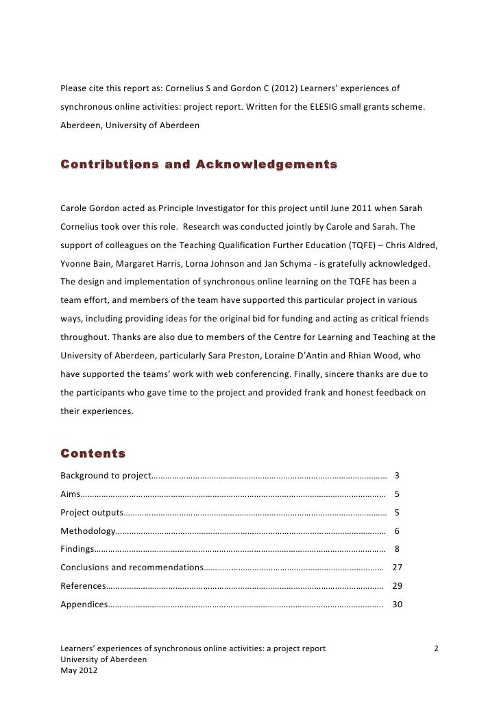 Learners Experiences Of Synchronous Online Activities