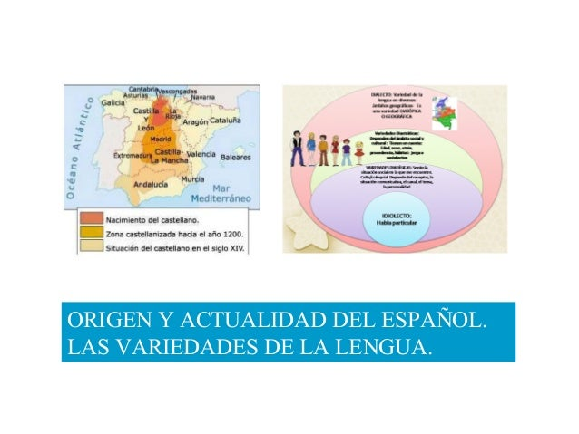 ORIGEN Y ACTUALIDAD DEL ESPAÑOL. LAS VARIEDADES DE LA LENGUA.