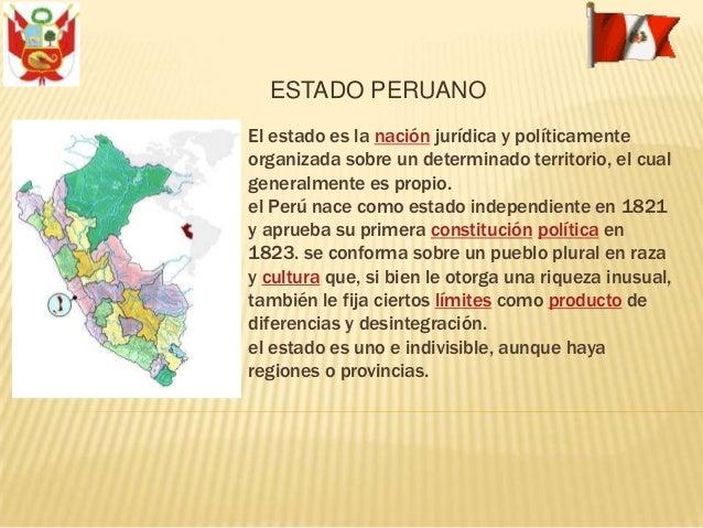 El estado es la nación jurídica y políticamente organizada sobre un determinado territorio, el cual generalmente es propio...