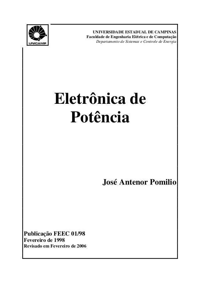 UNIVERSIDADE ESTADUAL DE CAMPINAS Faculdade de Engenharia Elétrica e de Computação Departamento de Sistemas e Controle de ...