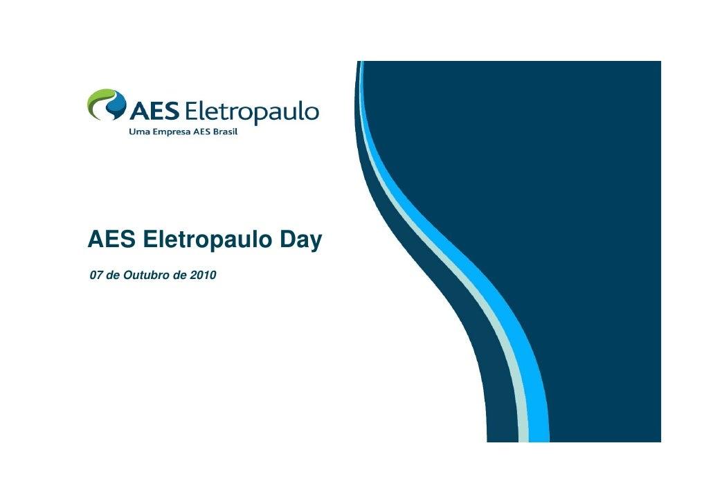 Apresentação - AES Eletropaulo Day