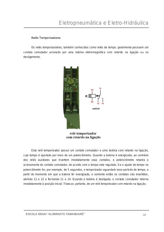 """Eletropneumática e Eletro-Hidráulica 18ESCOLA SENAI """"ALMIRANTE TAMANDARɔ Relés Temporizadores Os relés temporizadores, ta..."""