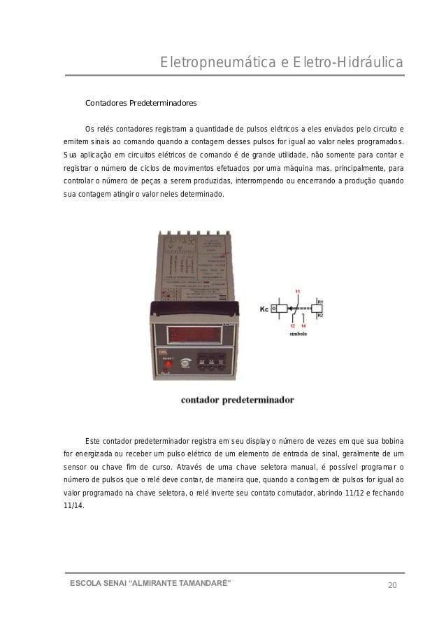 """Eletropneumática e Eletro-Hidráulica 20ESCOLA SENAI """"ALMIRANTE TAMANDARɔ Contadores Predeterminadores Os relés contadores..."""