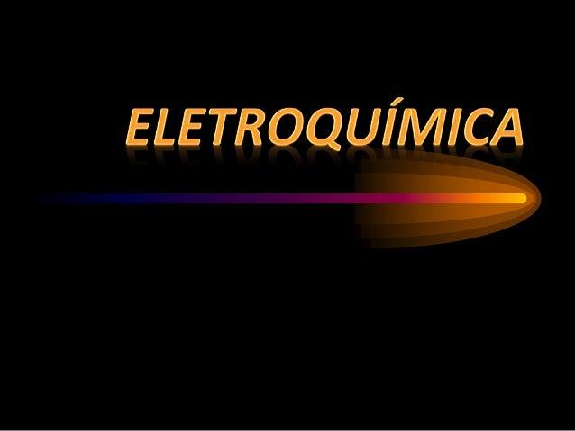 Abrange todos processo químicos que envolvem transferência de elétrons. Quando um processo químico ocorre, produzindo tran...