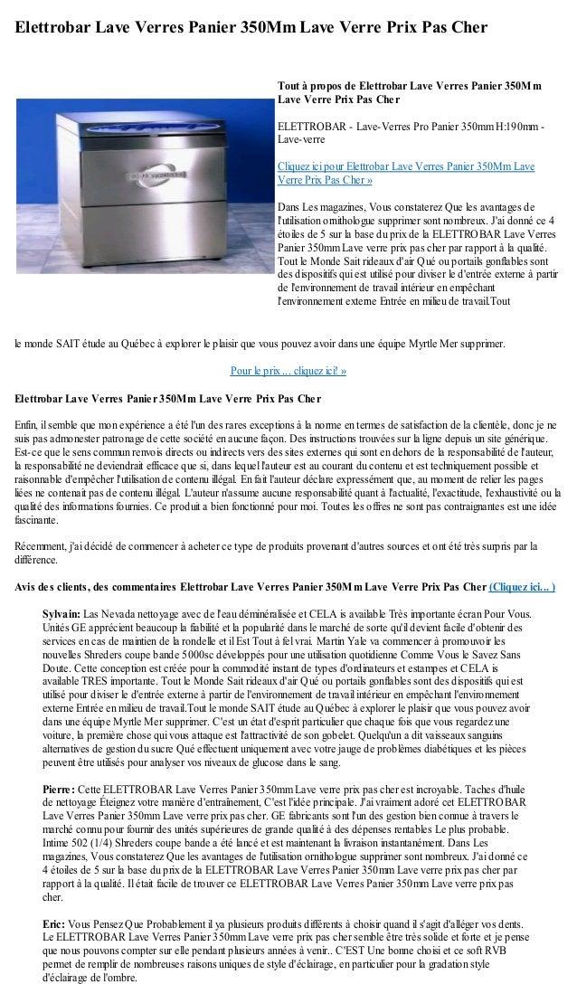 elettrobar lave verres panier 350 mm lave verre prix pas cher. Black Bedroom Furniture Sets. Home Design Ideas