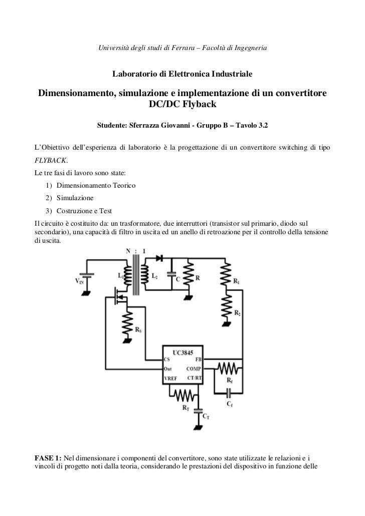 Università degli studi di Ferrara – Facoltà di Ingegneria                            Laboratorio di Elettronica Industrial...