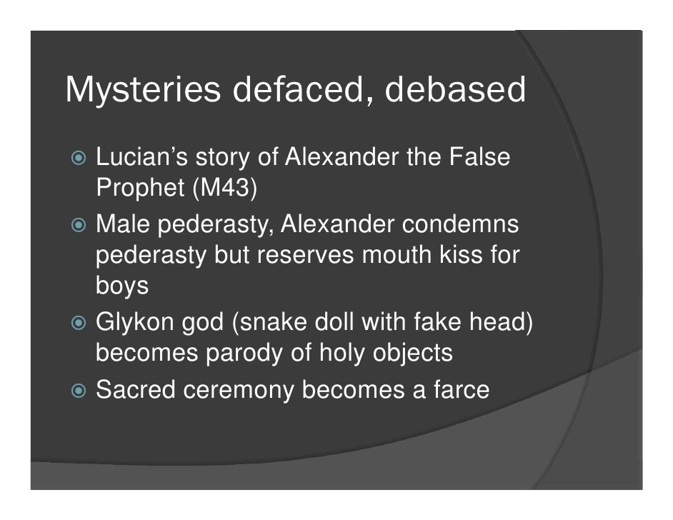 Eleusinian mysteries lecture 2 for Farcical fertility