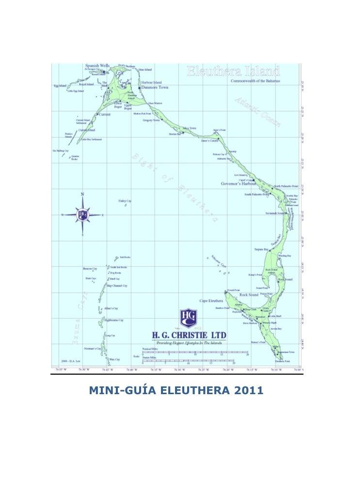 MINI-GUÍA ELEUTHERA 2011
