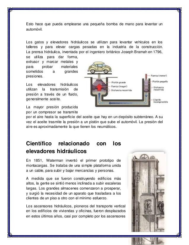 Elevadores hidraulicos for Materiales para hacer un ascensor