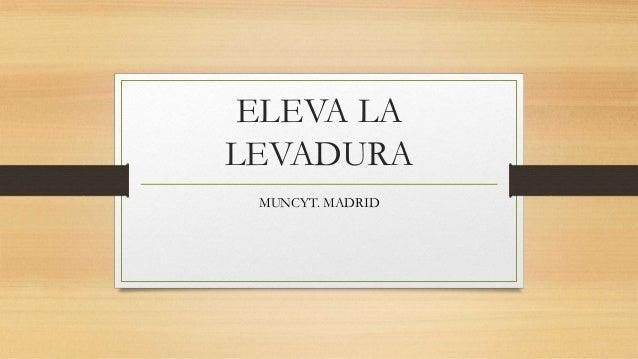 ELEVA LA LEVADURA MUNCYT. MADRID