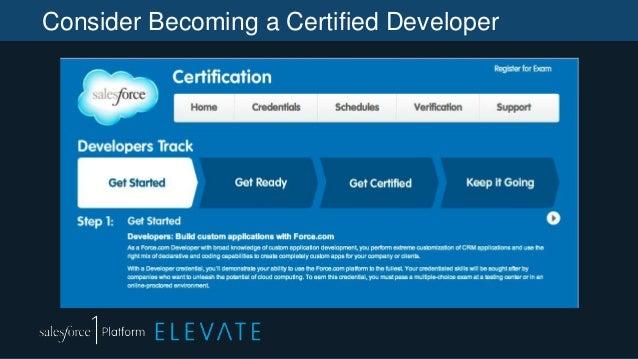 Consider Becoming a Certified Developer