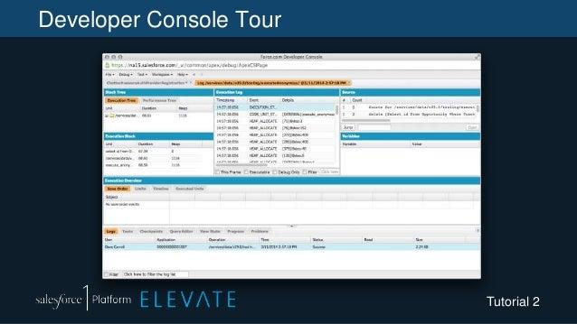 Developer Console Tour Tutorial 2