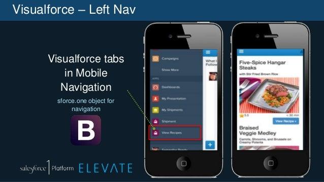 Visualforce – Left Nav Visualforce tabs in Mobile Navigation sforce.one object for navigation