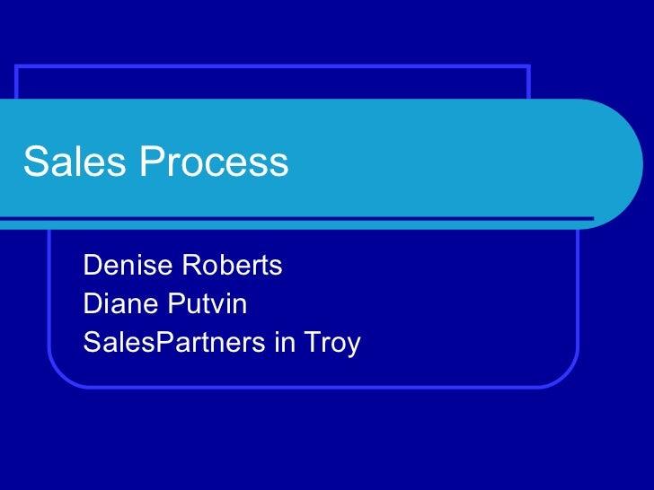 Sales Process Denise Roberts Diane Putvin SalesPartners in Troy