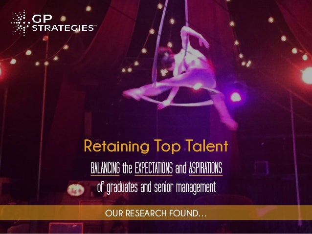 Retaining Top Talent BALANCING the EXPECTATIONS and ASPIRATIONS of graduates and senior management OUR RESEARCH FOUND…
