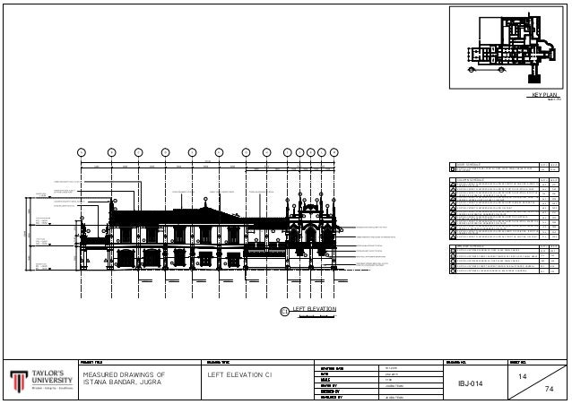 Elevation Key Plan : Istana bandar jugrah elevations