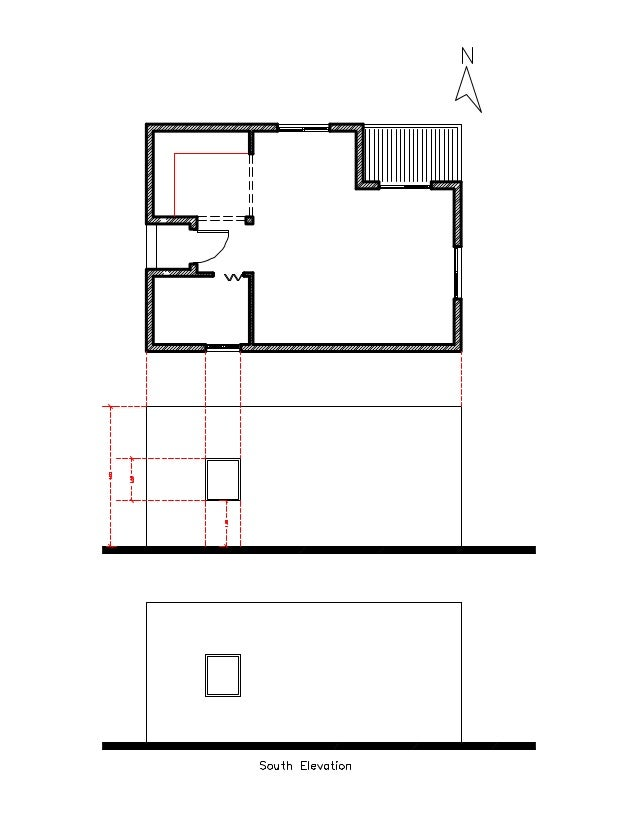 Plan Elevation Projection : Projection of elevation section