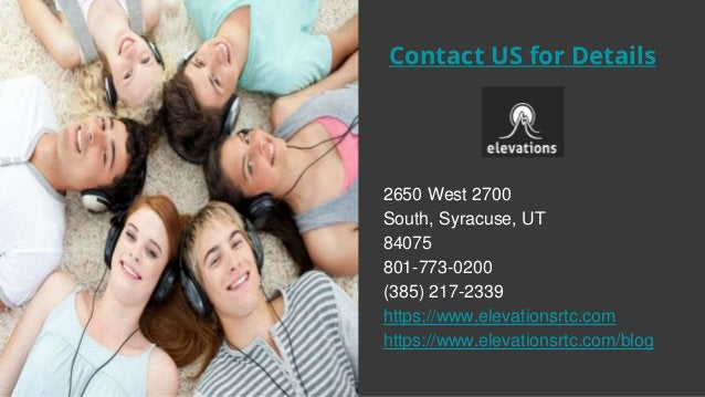Contact US for Details 2650 West 2700 South, Syracuse, UT 84075 801-773-0200 (385) 217-2339 https://www.elevationsrtc.com ...