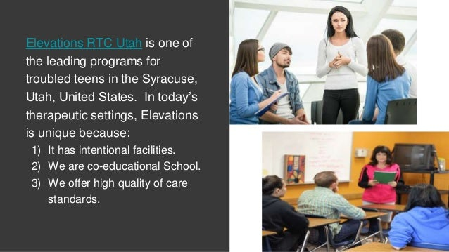 Elevations RTC Utah is one of the leading programs for troubled teens in the Syracuse, Utah, United States. In today's the...