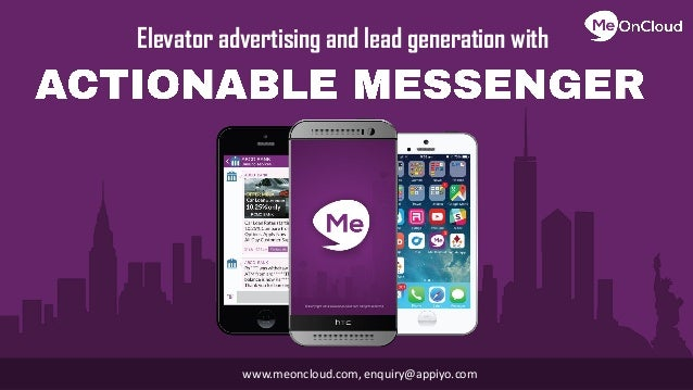Elevator advertising and lead generation with enquiry@appiyo.comwww.meoncloud.com,