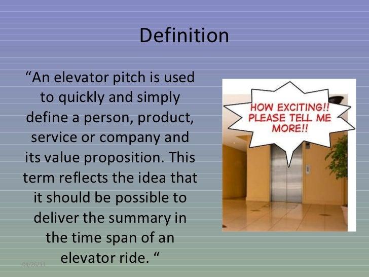 Elevator pitch Slide 2