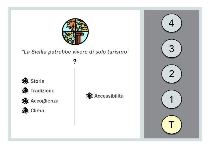 """4""""La Sicilia potrebbe vivere di solo turismo""""   3                     ?                                               2   ..."""