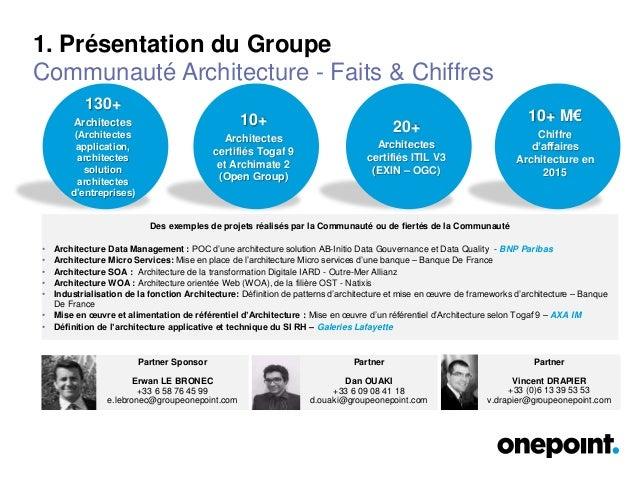Communauté onepoint - Architecture Slide 3