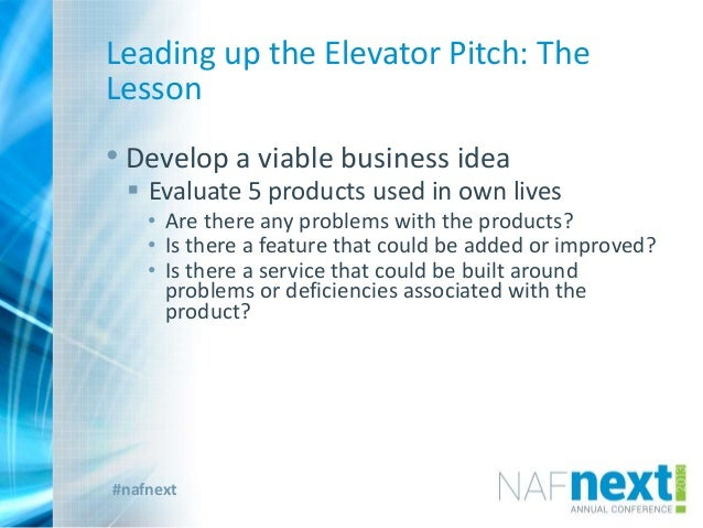 The Elevator Pitch - Not a Curve Ball
