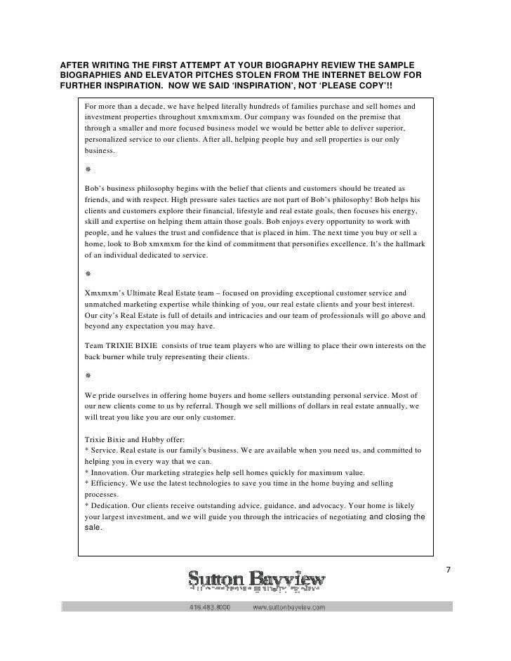 Toronto Real Estate Agent Personal Branding Workbook