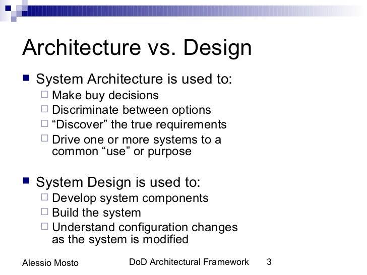 Architecture Vs.