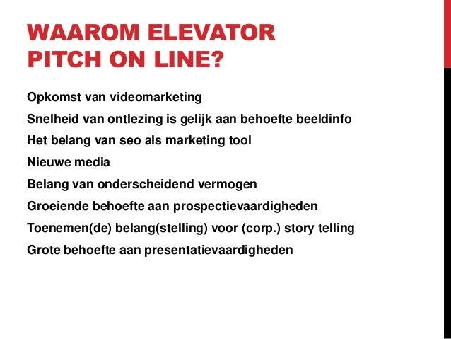 Elevator pitch online rob overgaauw Slide 3