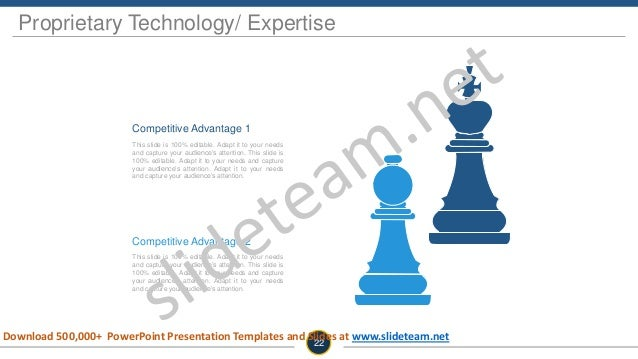 Proprietary Technology/ Expertise Competitive Advantage 1 This slide is 100% editable. Adapt it to your needs and capture ...