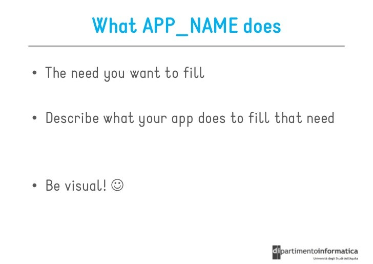 mobile app elevator pitch template