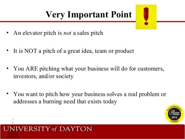 sales elevator pitch