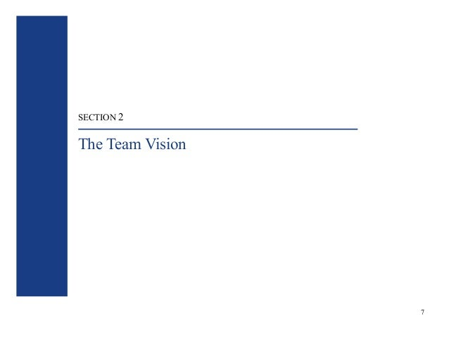 SECTION 2  The Team Vision  7