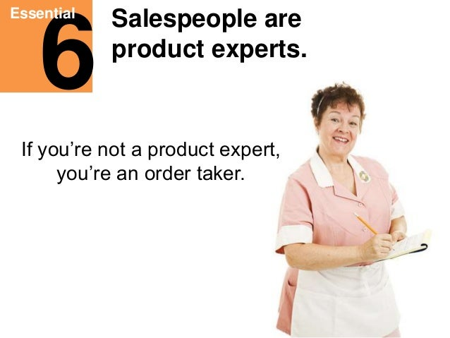 Eleven Essentials for Salespeople