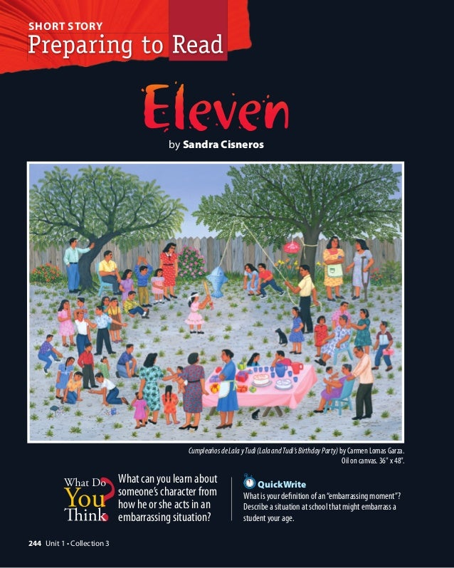 eleven reading and activities short story by sandra cisneros cumpleanos de lala y tudi lala and tudi s birthday party