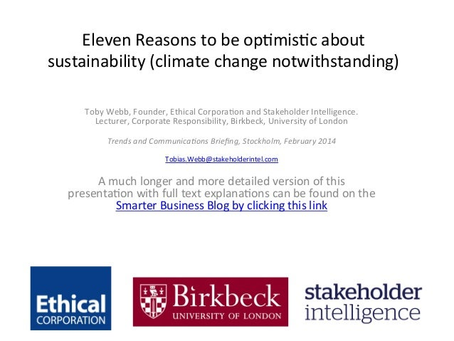 Eleven  Reasons  to  be  op.mis.c  about   sustainability  (climate  change  notwithstanding)      ...