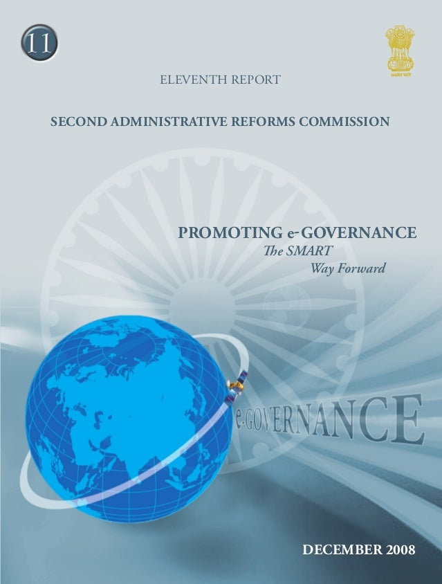 11 ELEVENTH report  Second Administrative Reforms Commission Promoting e-Gov ernan ce - The  Promoting e-Governance The SM...