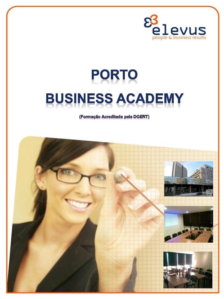 PORTO BUSINESS ACADEMY                                     PLANO -- 3º QUADRIMESTRE 2011                                  ...