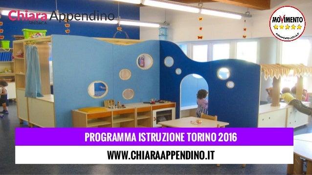 PROGRAMMA ISTRUZIONE TORINO 2016 WWW.CHIARAAPPENDINO.IT
