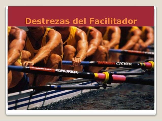 Destrezas del Facilitador  Para lograr lo anterior, el/la facilitador/a debe desarrollar y poder facilitar las siguientes...