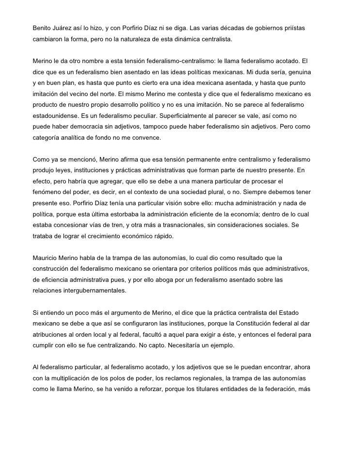 El federalismo estadounidense y el mexicano. breves reflexiones